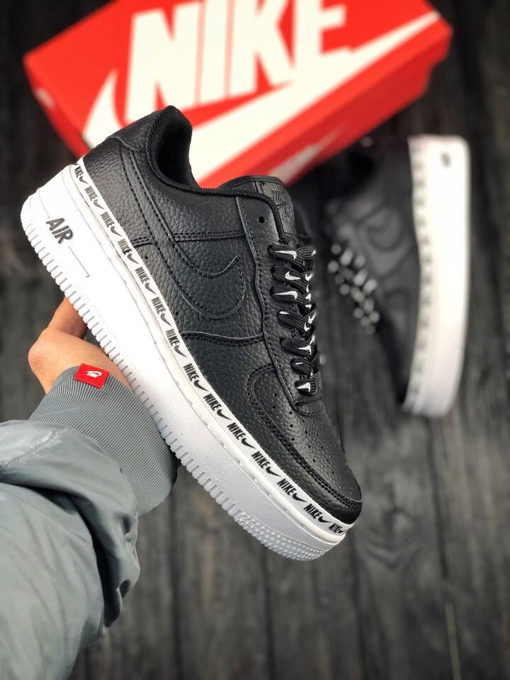 045fdb69 Женские кроссовки в стиле Nike Air Force 1 low (Black/White), найк аир форс  низкие, (Реплика ААА)