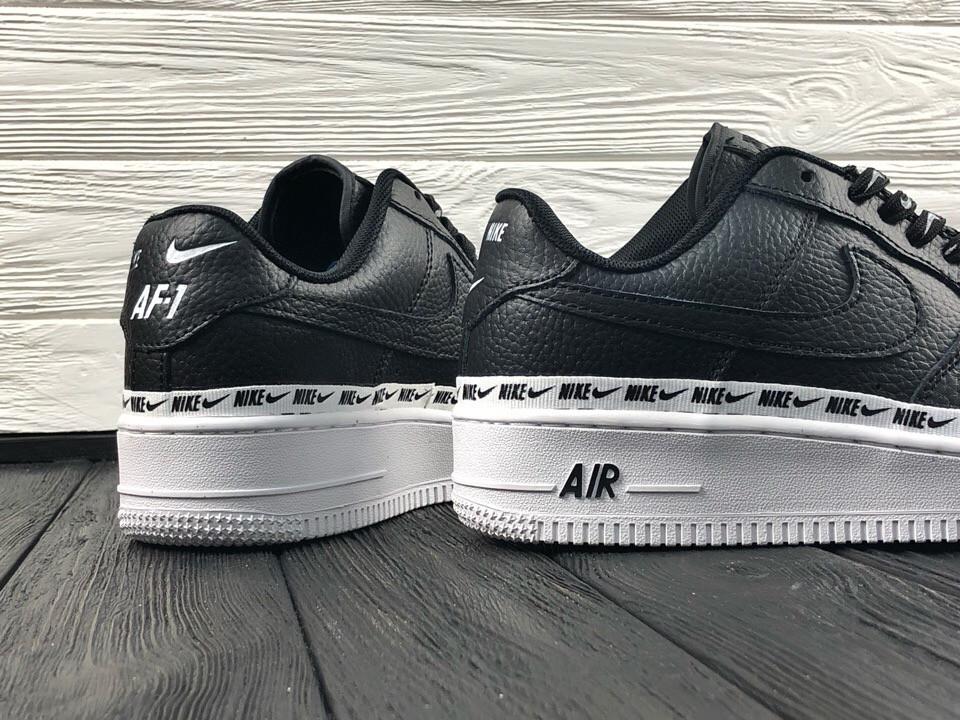 ddd2c0ec ... найк Женские кроссовки в стиле Nike Air Force 1 low (Black/White), ...