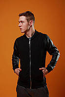 Бомбер весенний / летний, куртка мужская черная