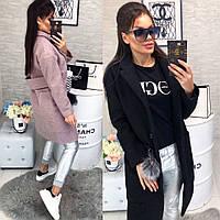 Женское стильное пальто букле с большими карманами, фото 1