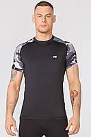 Компрессионная спортивная футболка Rough Radical Furious Army SS  (original), мужской рашгард с коротким рукавом