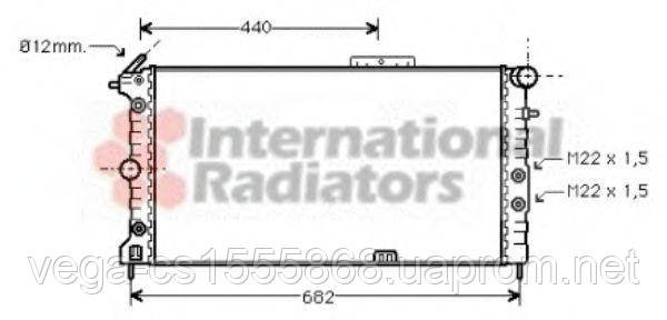 Радиатор охлаждения двигателя Van Wezel 37002173 на Opel Calibra / Опель Калибра
