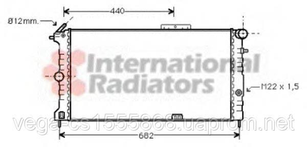 Радіатор охолодження двигуна Van Wezel 37002190 на Opel Calibra / Опель Калібра