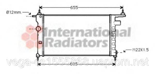 Радиатор охлаждения двигателя Van Wezel 37002183 на Opel Corsa / Опель Корса