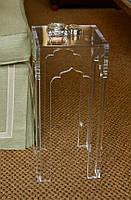 Стол - тумба прозрачная 400х400х600 мм