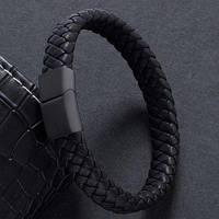 Мужской кожаный браслет, фото 1
