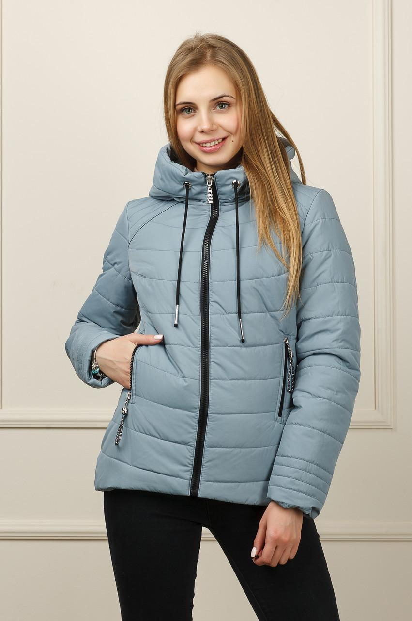 Куртка демисезонна Бланка серо-голубая 42-50рр