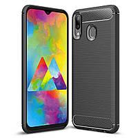 Чехол Carbon для Samsung Galaxy M20 бампер оригинальный Black