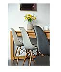Стул Тауэр Вуд темно-серый пластик, ножки дерево (Прайз), Eames, фото 7