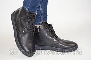 Ботинки женские демисезонные Masis 4063-1 чёрные кожа