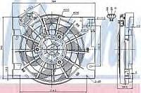 Вентилятор радиатора кондиционера Nissens 85186 на Opel Astra / Опель Астра