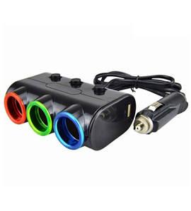 Автомобильный разветвитель прикуривателя Olesson 1523, 3 гнезда + 2 USB с тумблерами(АкСалАв_Olesson1523)