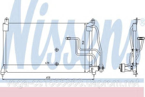 Радиатор кондиционера Nissens 94190 на Opel Calibra / Опель Калибра