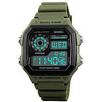 ➨Часы SKMEI 1299 Green мужские светодиодные электронные дюралюминий светящиеся цифровые спортивные