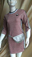 Платья-туника для девочки спортивное с сумочкой