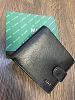 Мужское кожаное портмоне с монетницей на застежке MD