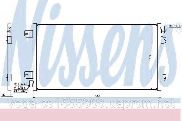 Радиатор кондиционера Nissens 94659 на Opel Movano / Опель Мовано