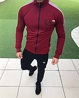 Спортивный костюм Emporio Armani EA7 D6371 черно-бордовый
