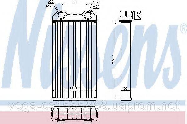 Радиатор печки Nissens 73331 на Opel Vivaro / Опель Виваро