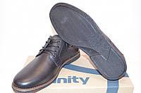 Туфли мужские Affinity 1918-11 чёрные кожа на шнурках, фото 1