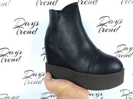 Модные женские ботинки ботильоны на толстой подошве, фото 2