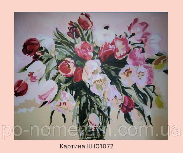 Картина по номерам Идейка нарисованные тюльпаны
