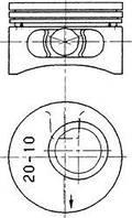 Поршень Kolbenschmidt 90245620 на Opel Omega / Опель Омега