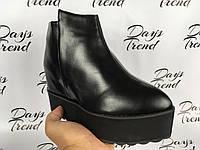 Модные женские ботинки ботильоны на платформе