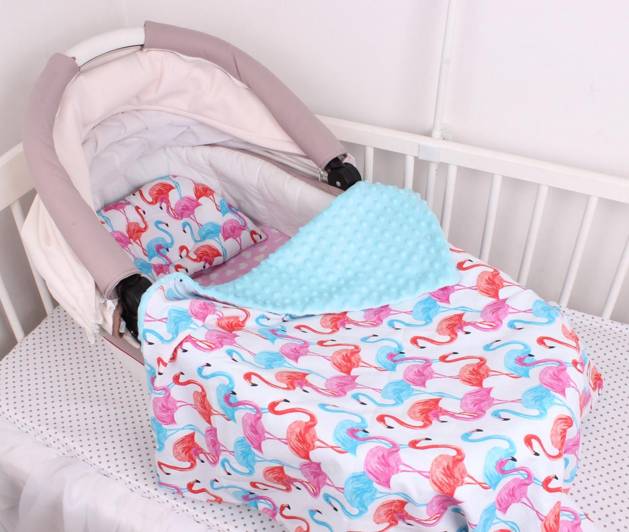 """Комплект в коляску для новорожденного """"Фламинго"""""""