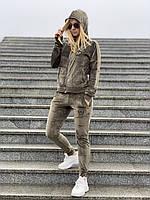 Спортивный костюм жеснкий Philipp Plein D6331 велюровый хаки, фото 1