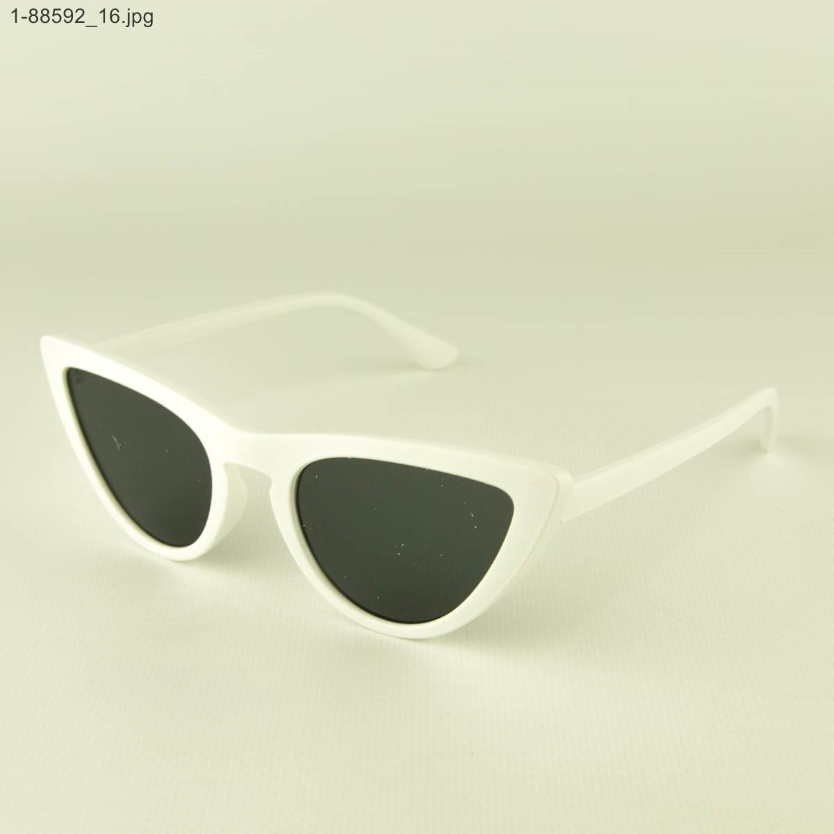 Женские очки кошачий глаз - Белые - 1-88592