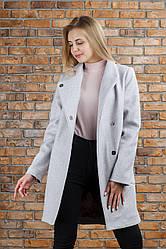 Пальто трендовое Полли цвет пудра 46