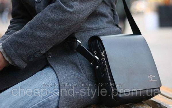 f86ab7fa5fc9 Стильная мужская сумка KANGAROO (черная 21*17см.) Сумка-планшетка, сумка