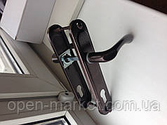 Ручка KEDR-77mm (Kumru) Br для уличной двери, Николаев