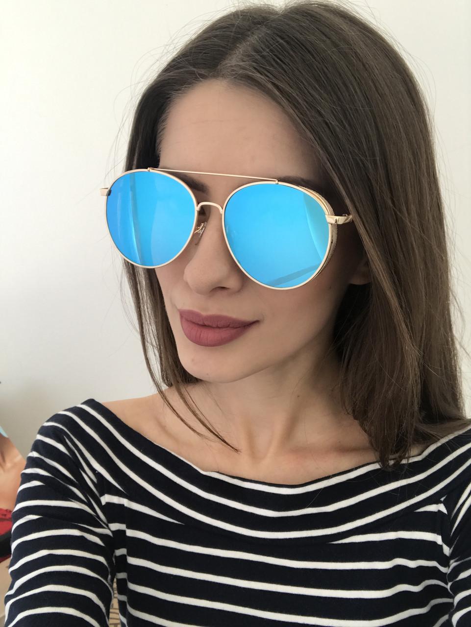 Женские очки 2018 (8308-3) голубая линза