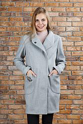 Пальто трендовое Полли цвет серое 44