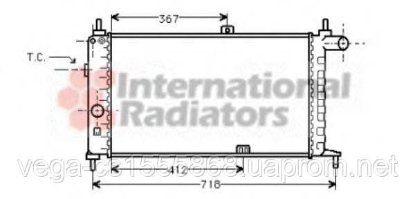 Радиатор охлаждения двигателя Van Wezel 37002064 на Opel Kadett / Опель Кадет
