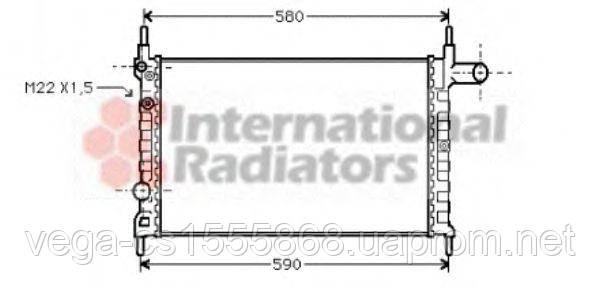Радиатор охлаждения двигателя Van Wezel 37002150 на Opel Kadett / Опель Кадет
