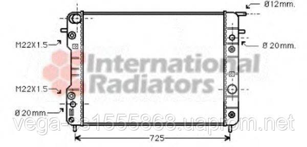 Радіатор охолодження двигуна Van Wezel 37002193 на Opel Omega / Опель Омега