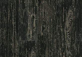 Кварцвиниловая ПВХ плитка LG Decotile GSW 2367 Сосна окрашенная черная 2,5 мм