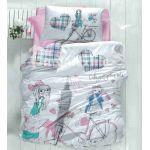 Детское постельное белье ранфорс 150*215 см, Ecem