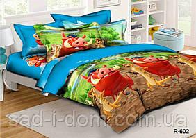 Детское постельное белье ранфорс 150*215 см, Тимон и Пумба