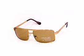 Стеклянные коричневые очки 7505-2