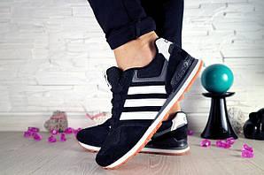 Кроссовки Classik B374 (Adidas Brand) (весна-осень, женские, замш, черный)