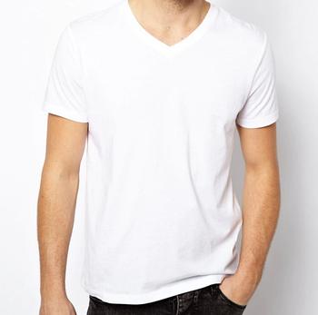 Мужская двухслойная футболка V-вырез размер S