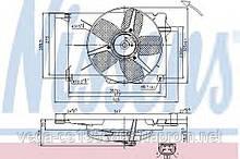 Вентилятор системы охлаждения двигателя Nissens 85005 на Opel Combo / Опель Комбо
