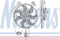 Вентилятор системы охлаждения двигателя Nissens 85784 на Opel Zafira / Опель Зафира