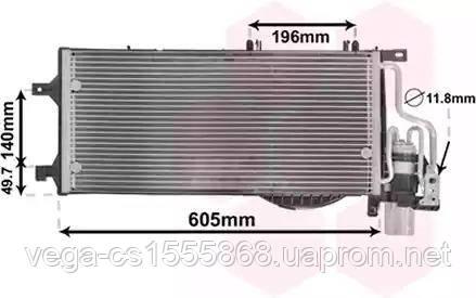 Радиатор кондиционера Van Wezel 37015370 на Opel Combo / Опель Комбо