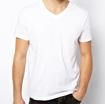Мужская двухслойная футболка V-вырез размер 3XL