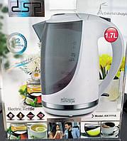 Белый электрический чайник DSP KK1111A пластиковый электрочайник